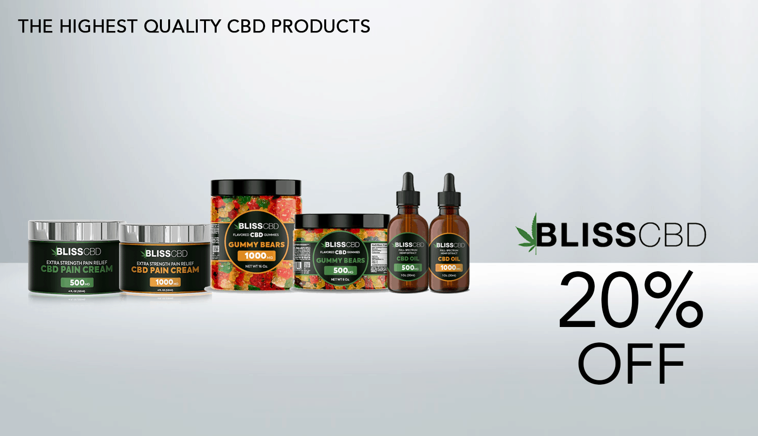 Bliss CBD Coupon Code 20 Pecent Off Website