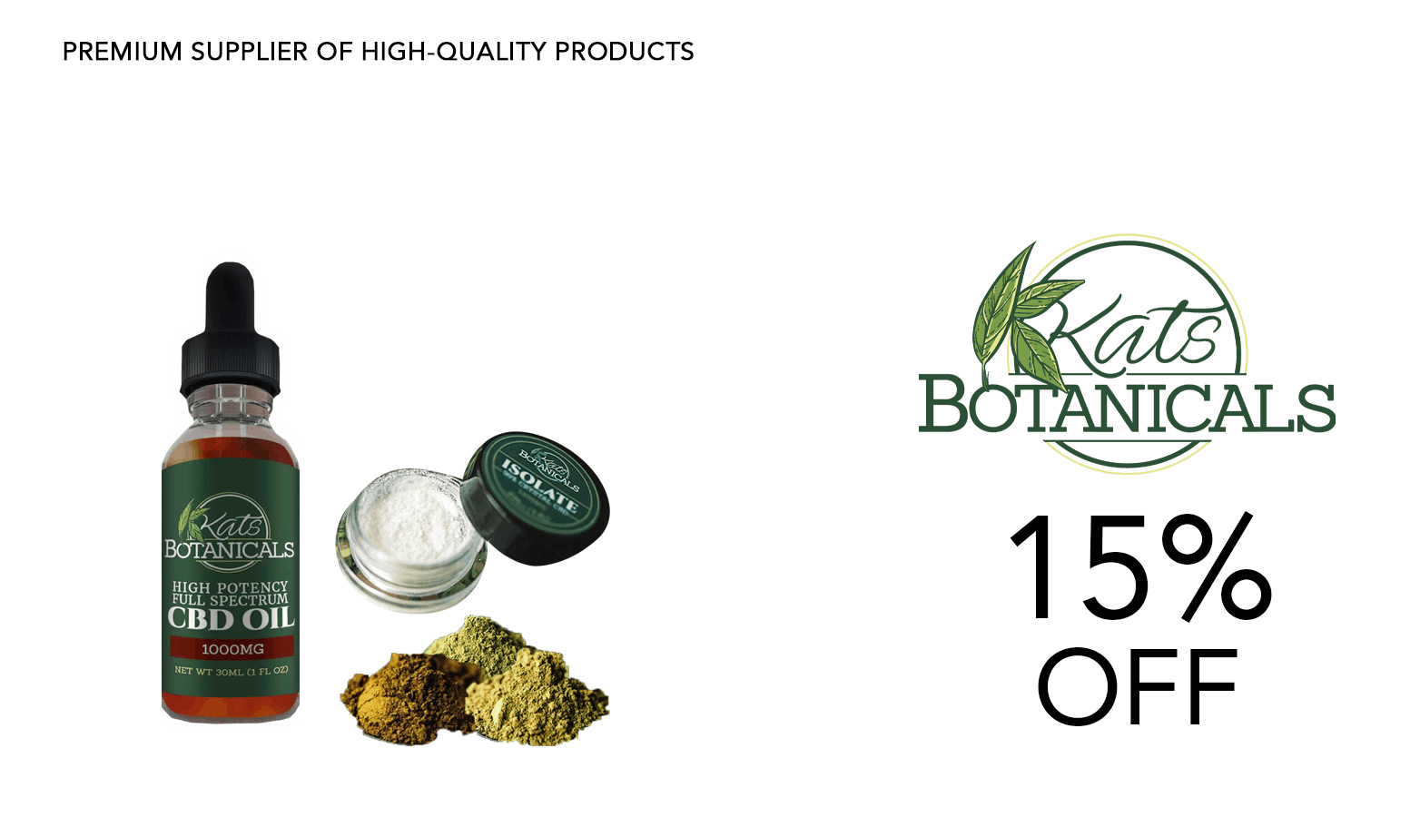 Kat's Botanicals CBD Coupon Code Website