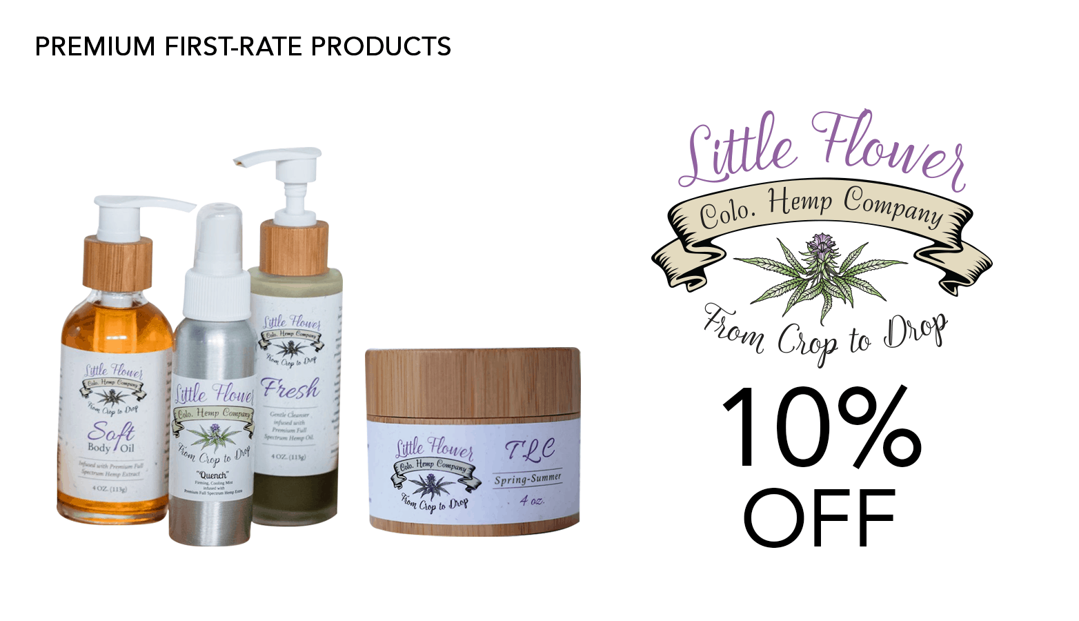 ittle Flower Hemp Company Coupon Code Website