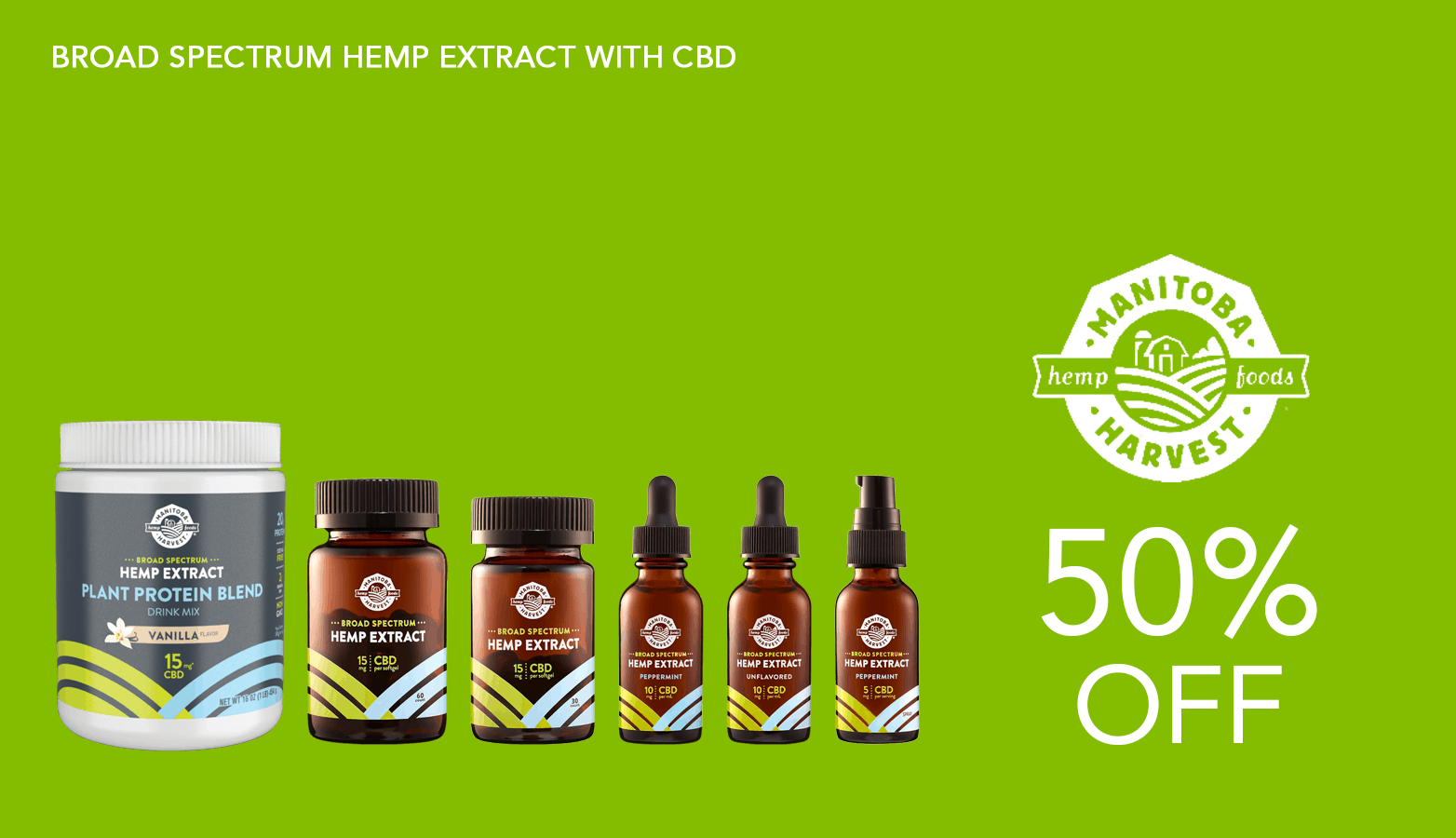 Manitoba Harvest CBD Coupon Code Website