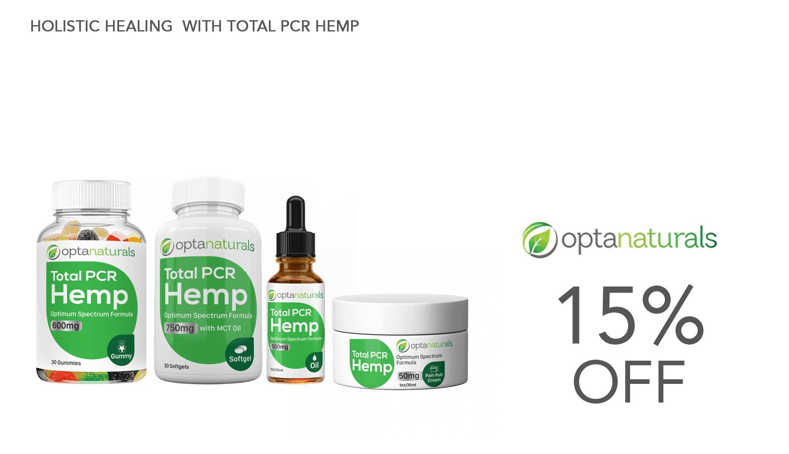 OptraNaturals CBD Coupon Code Website