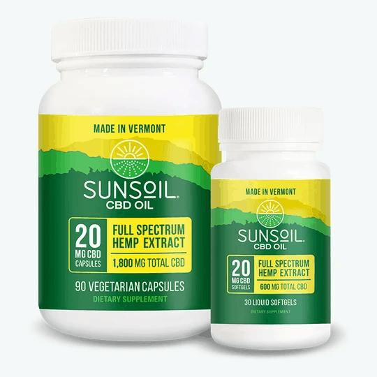 Sunsoil CBD Coupon Code Capsules and Softgel