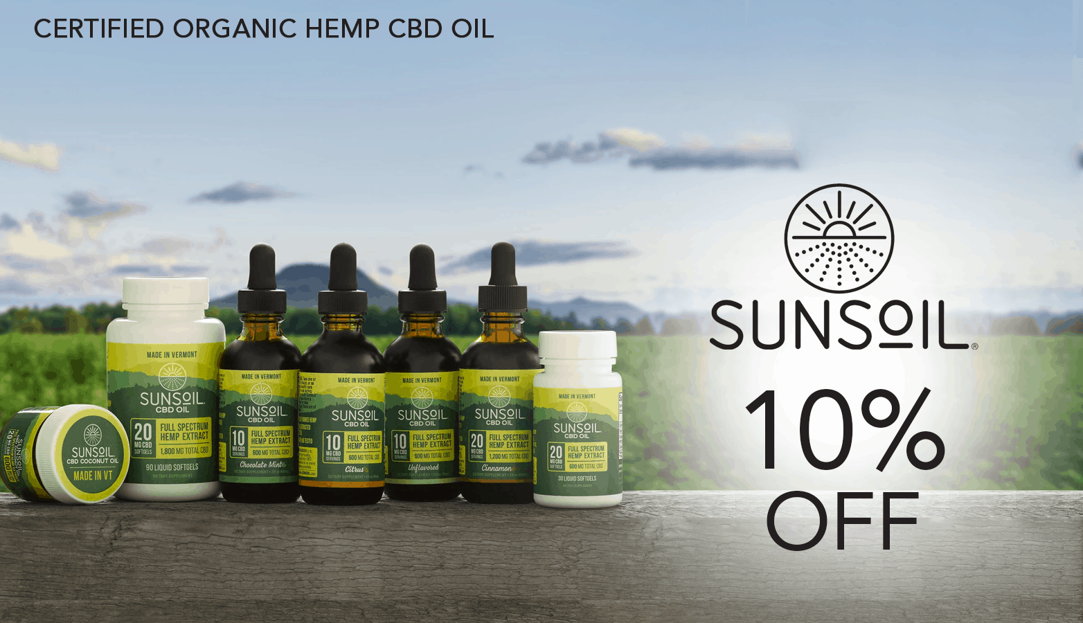 Sunsoil CBD Coupon Code Website