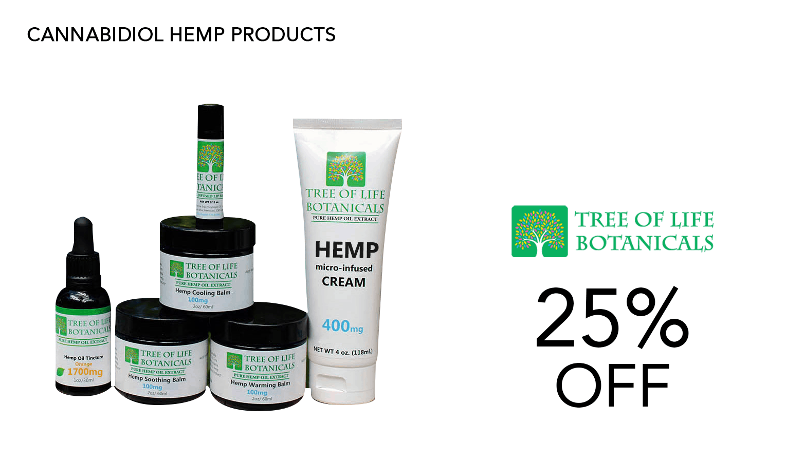 Tree of Life Botanicals CBD Coupon Code Website