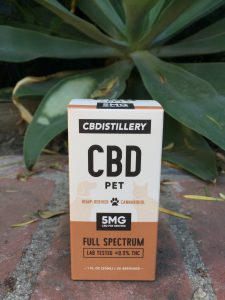 package of CBDistillery CBD Pet Tincture