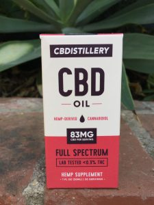 CBDistillery Full-Spectrum CBD Oil Tincture product box