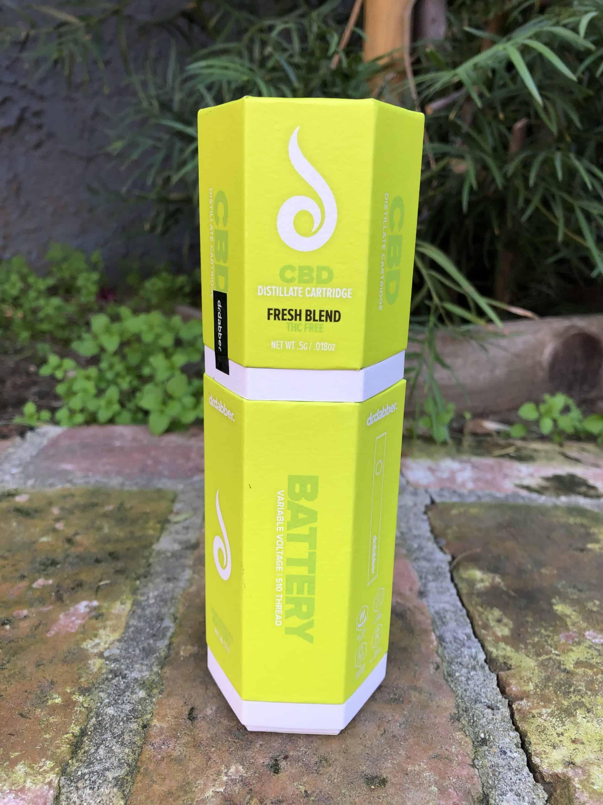 Dr. Dabber CBD Cartridge & Battery Combo - Fresh Blend