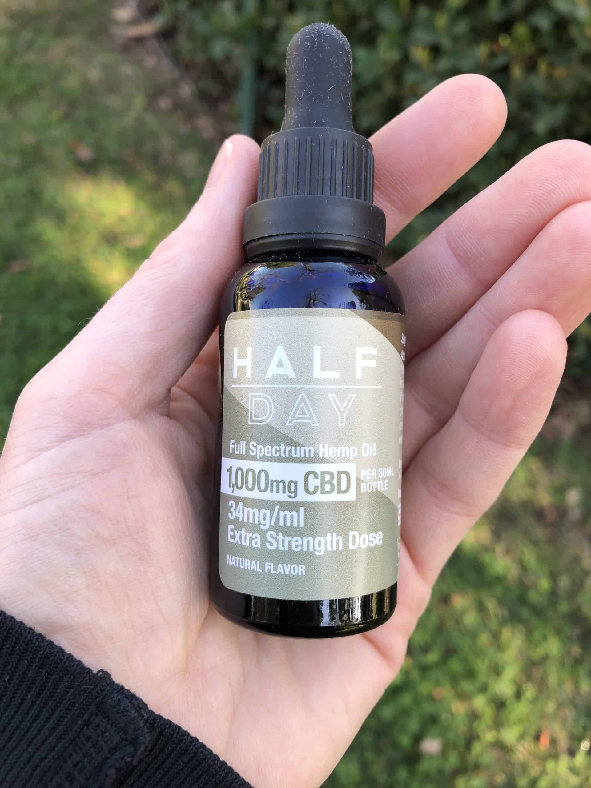 Half Day - Full Spectrum CBD Oil Tincture 1000mg Natural Flavor