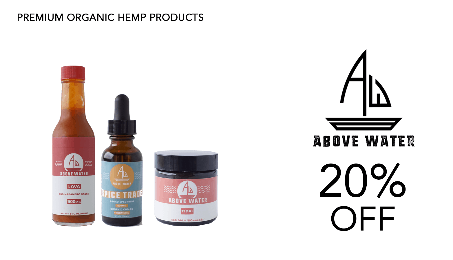 Above Water CBD Coupon Code Website