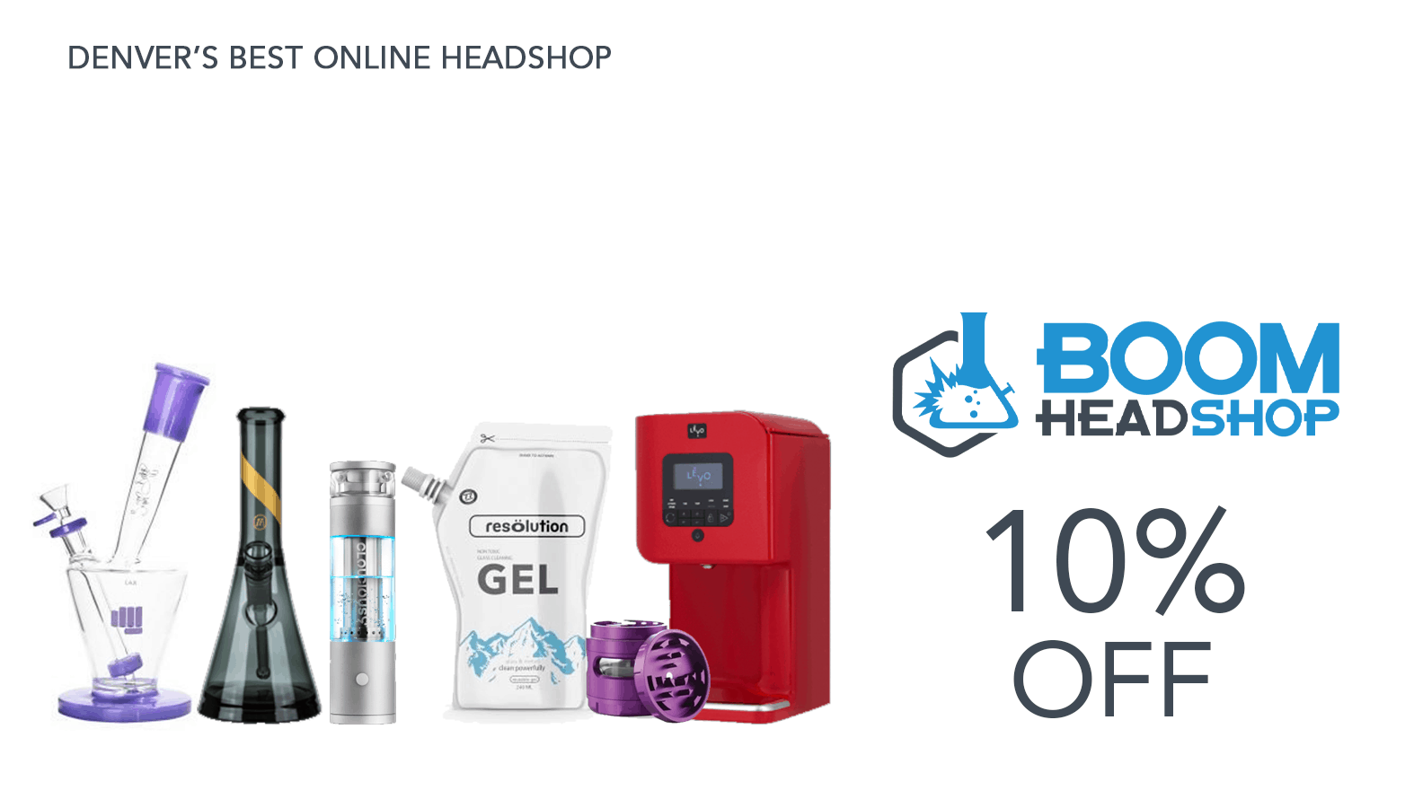 Boom Headshop Bongs Coupon Code Website