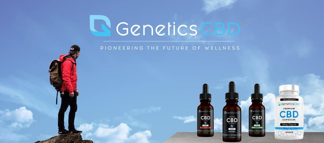 Genetics CBD Coupon Code Banner