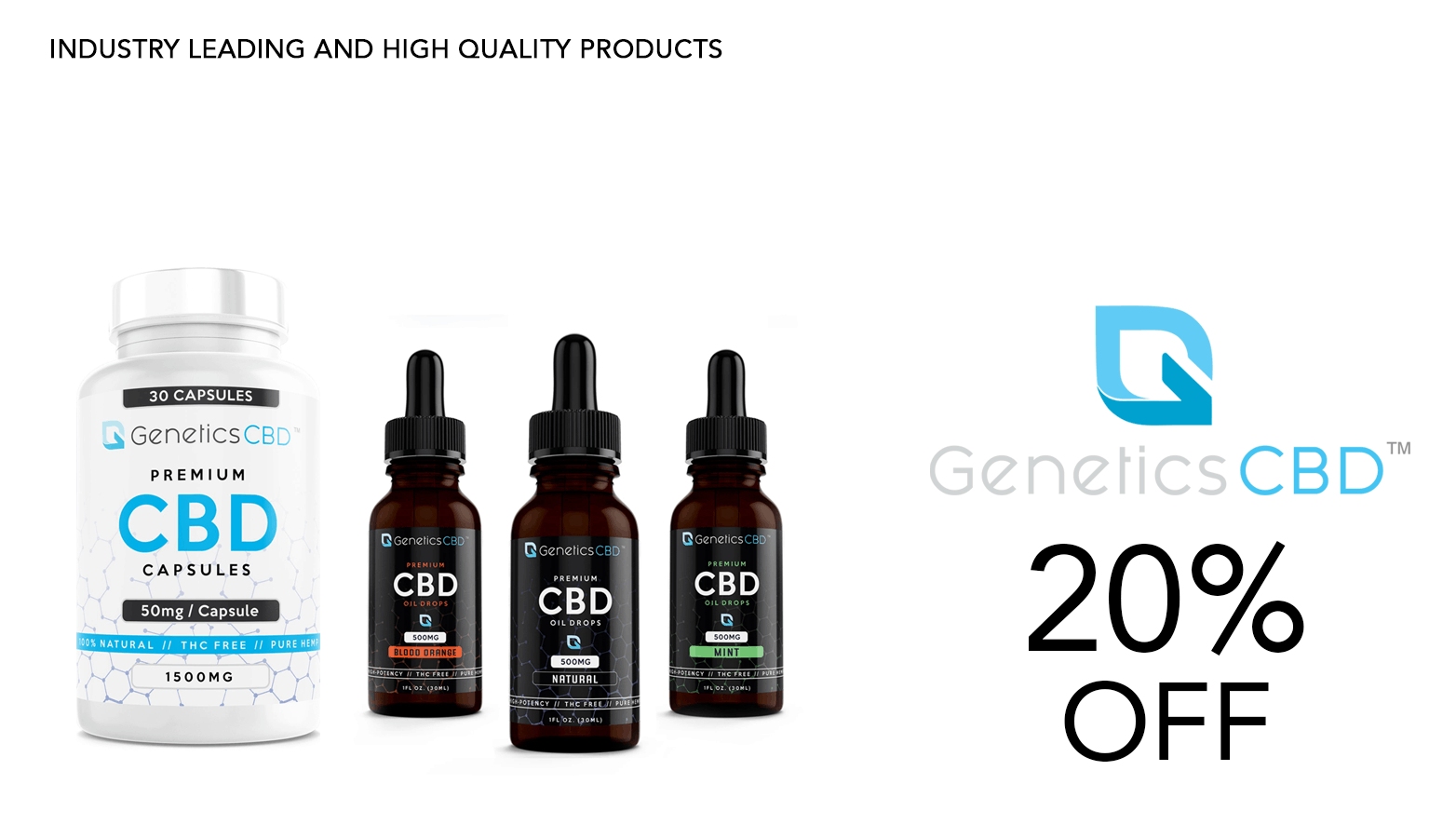 Genetics CBD Coupon Code Twenty Percent Off Website