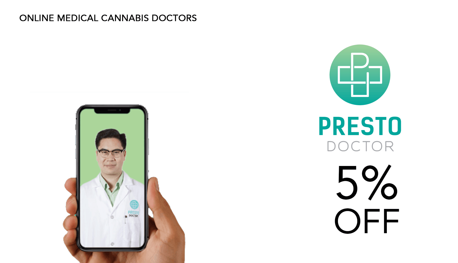 Presto Doctor Cannabis Coupon Code Website