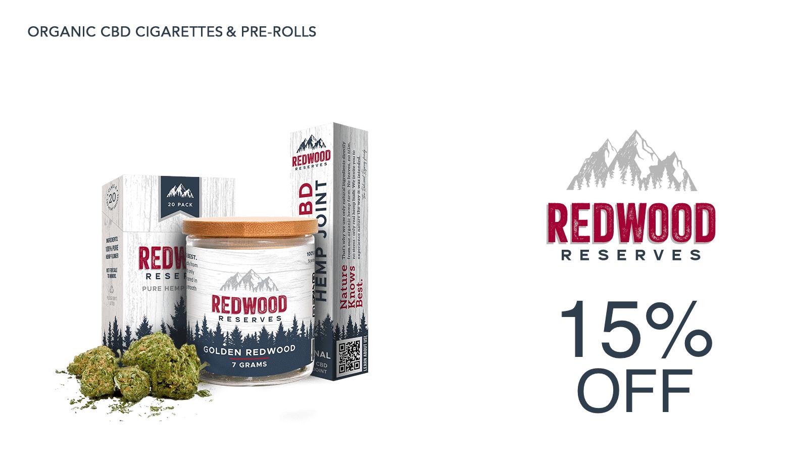 Redwood Reserves Coupon for CBD Prerolls