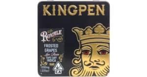 Splitbud CBD Coupon King Pen Frosted Grapes 100 Sauce 1g Cartridge