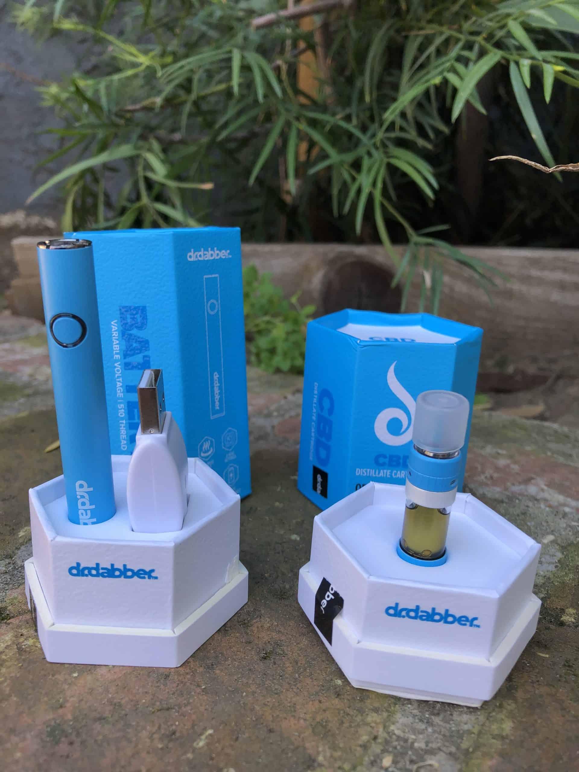dr dabber cbd cartridge and battery combo original blend save on cannabis beauty shot