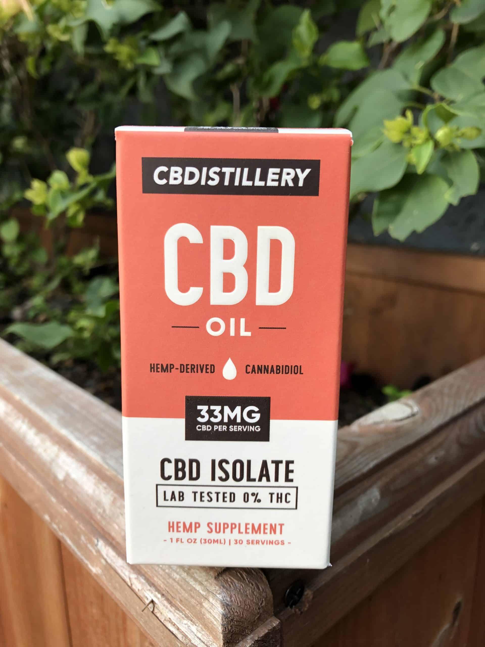 CBDISTILLERY THC-FREE PURE CBD OIL TINCTURE - 1,000 MG