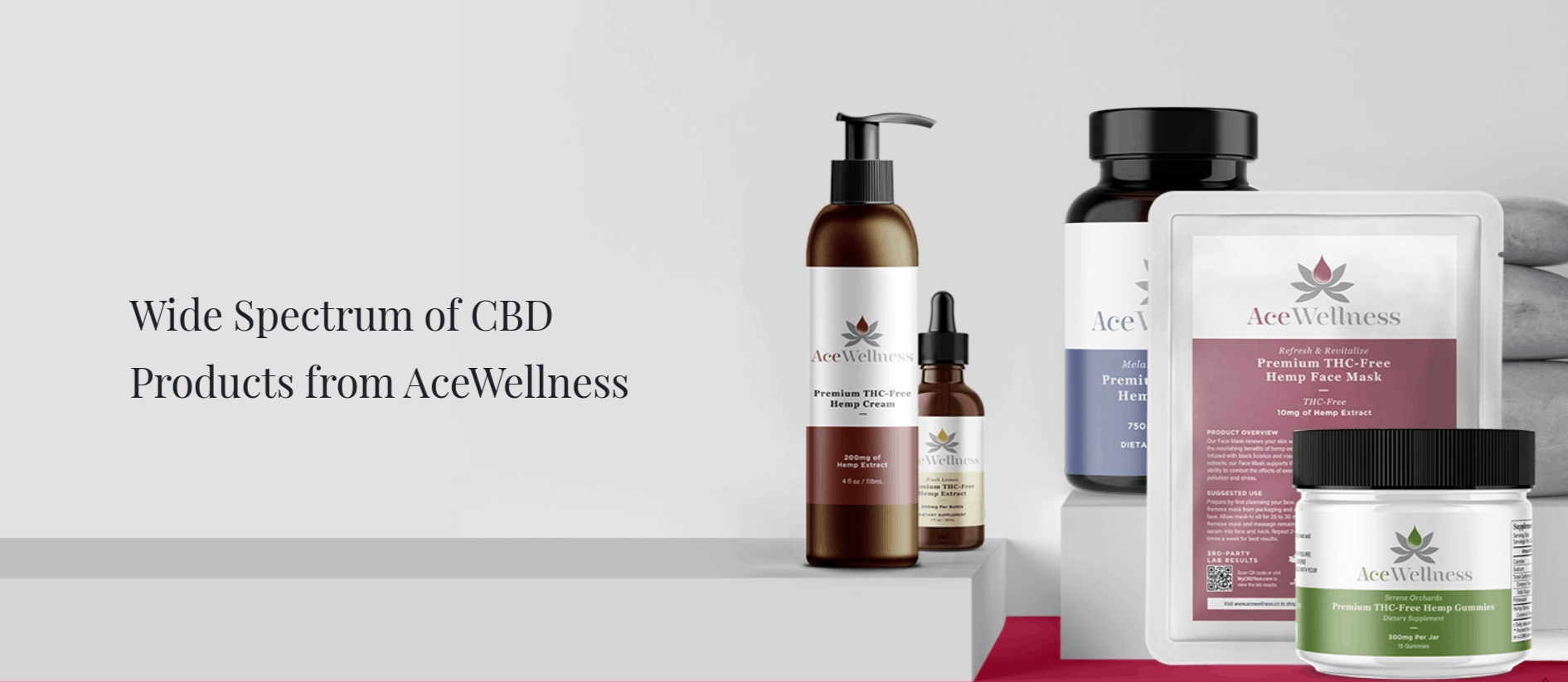 Ace Wellness CBD Coupon Code Product Range