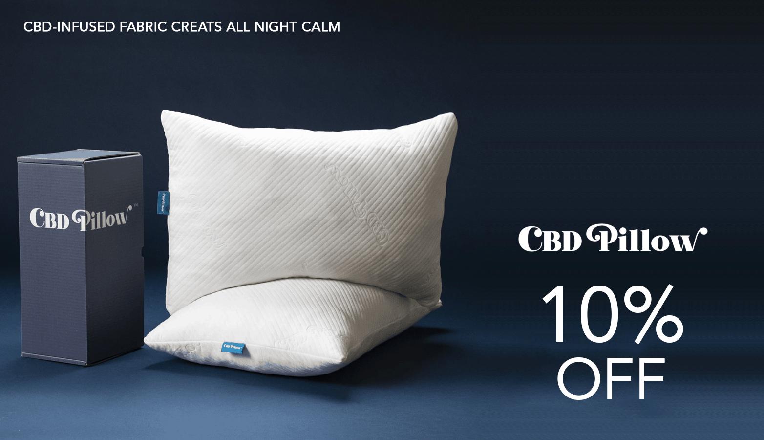 CBD Pillow Coupon Code 10 Percent Off Website