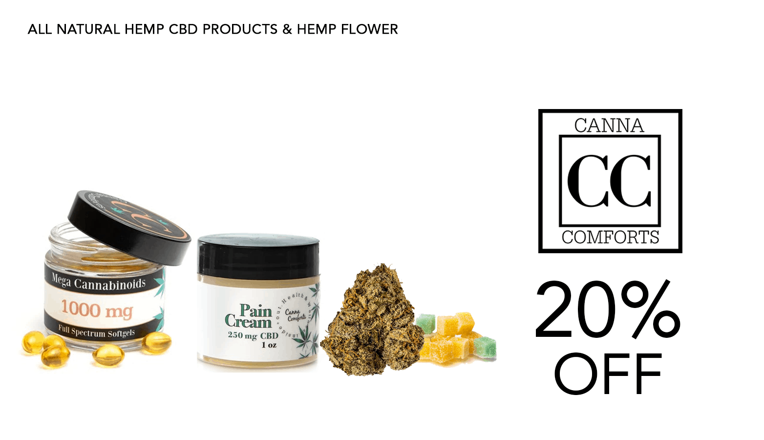 Canna Comforts CBD Coupon Code Offer Website