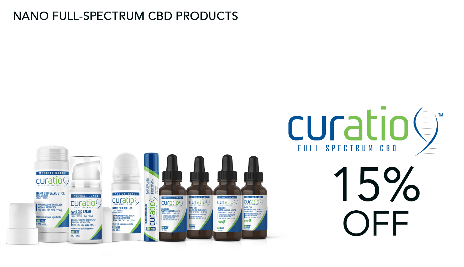 Curatio CBD Coupon Code 15 Percent Off Website