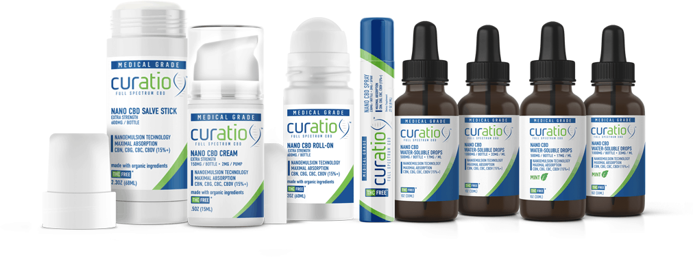 Curatio Full Spectrum CBD Coupon Code Product Range