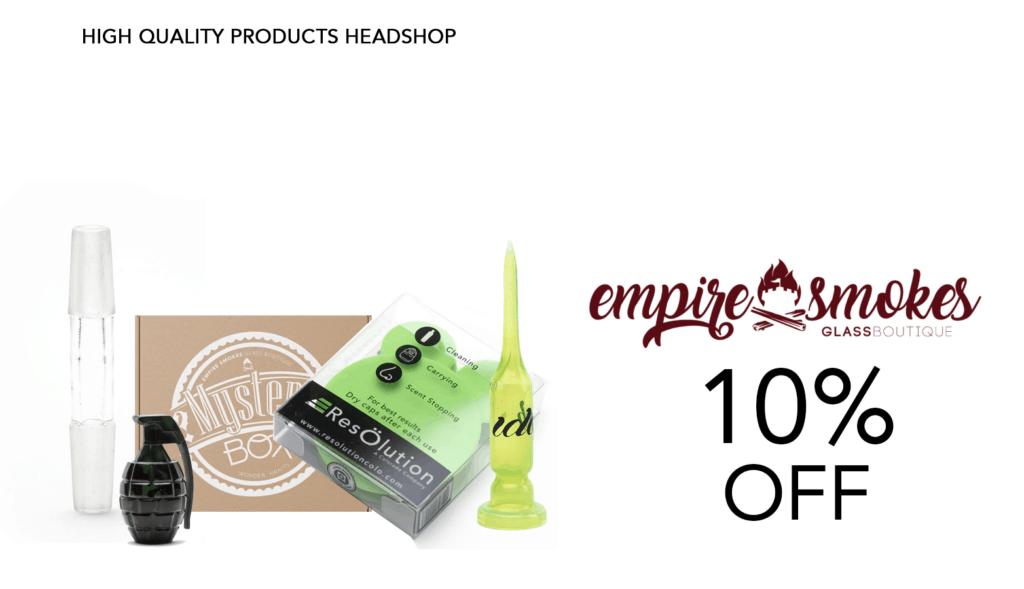 Empire Smokes Bongs Coupon Code Discount Website