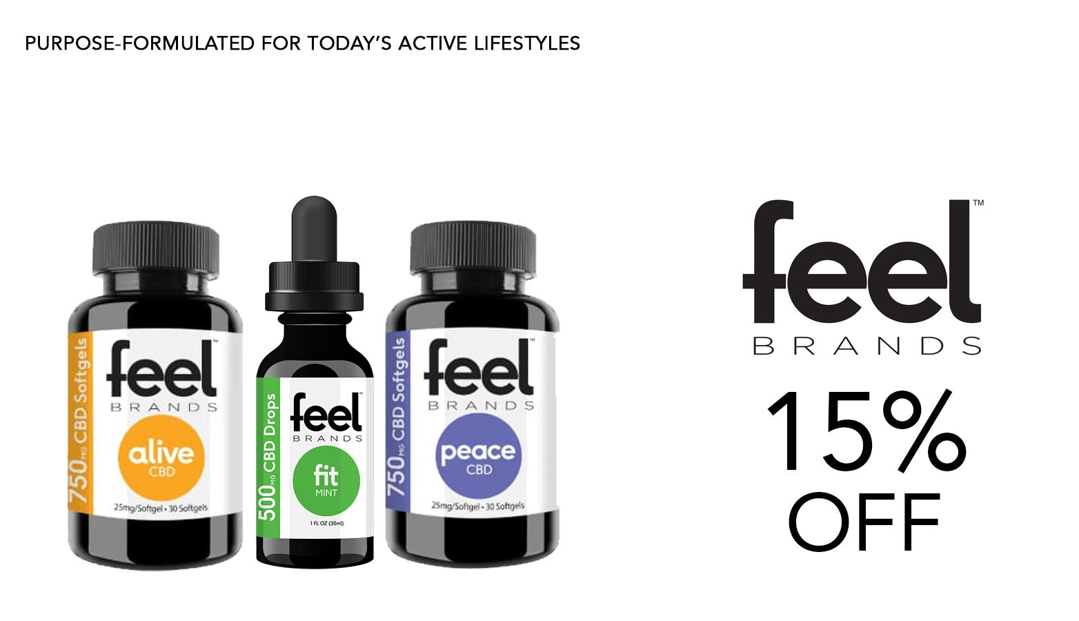 Feel Brands CBD Coupon Code Offer Website