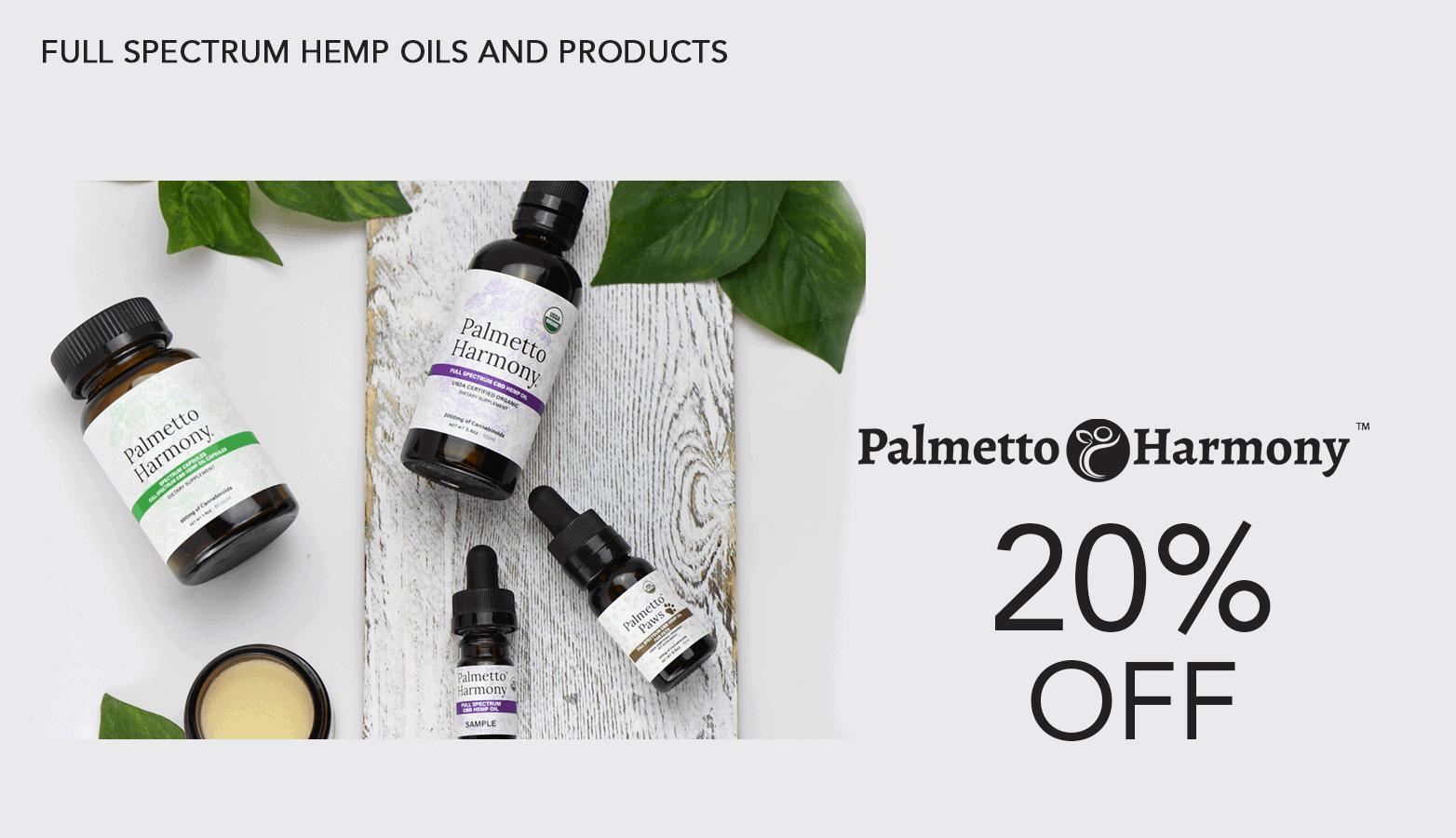 Palmetto Harmony CBD Promo Code Website