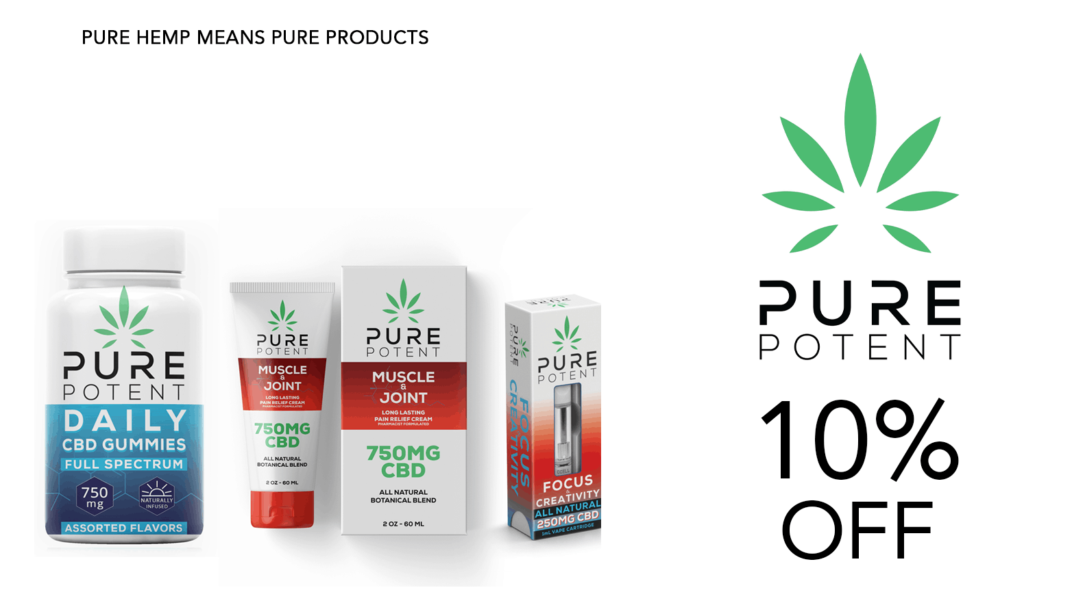 Pure Potent CBD Coupon Code Offer Website