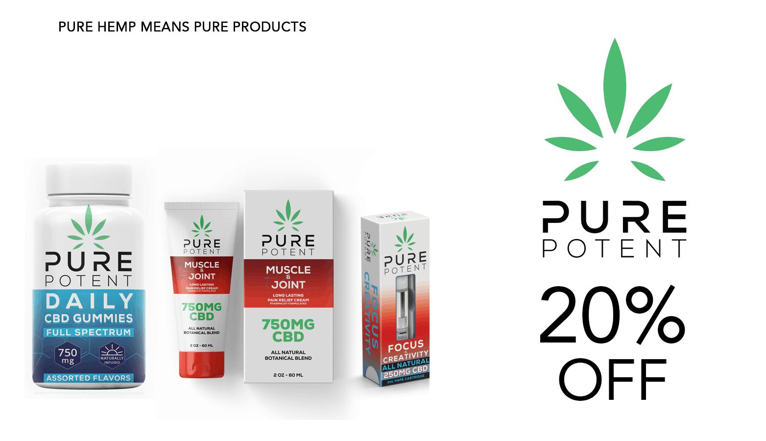 Pure Potent CBD Coupon Code Discount Website