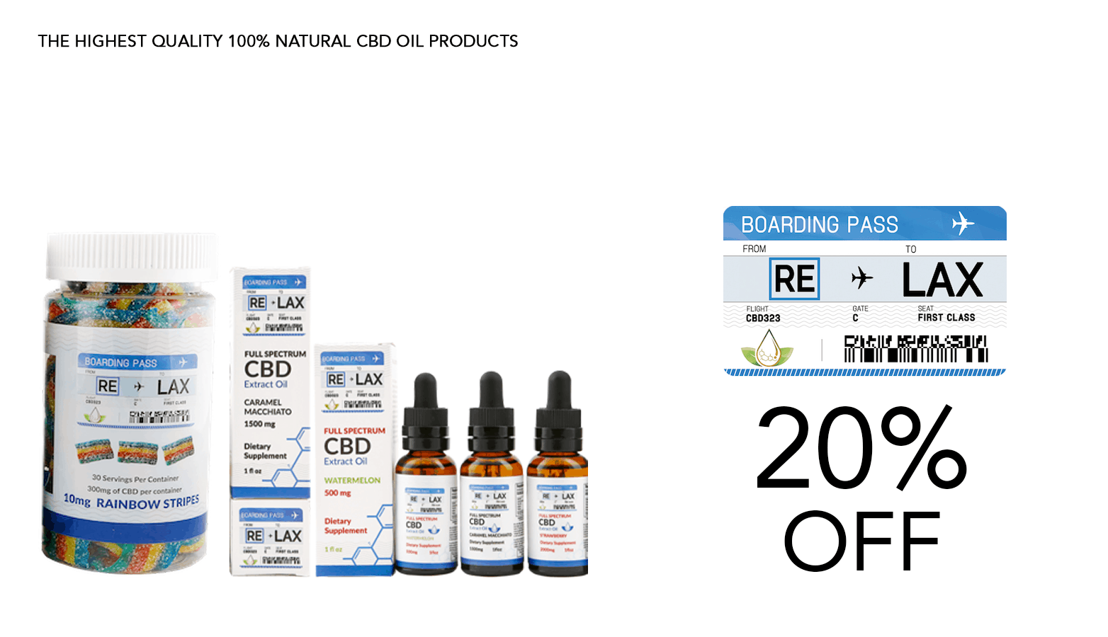 RE LAX CBD Coupon Code 20 Percent Off