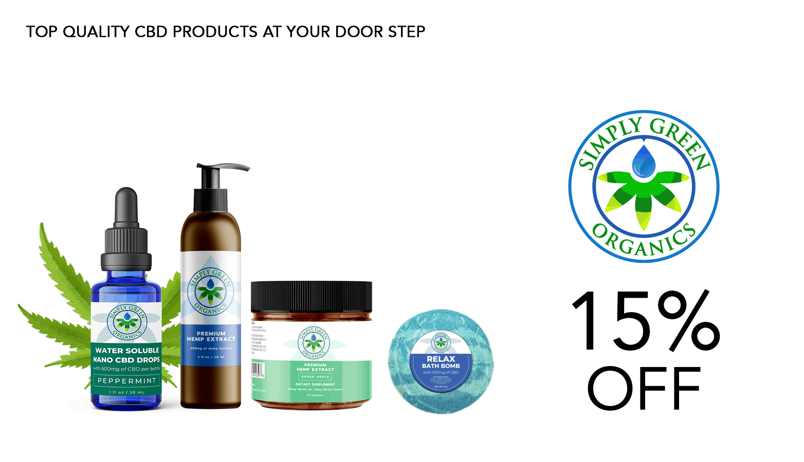 Simply Green Organics CBD Coupon Code Offer Website