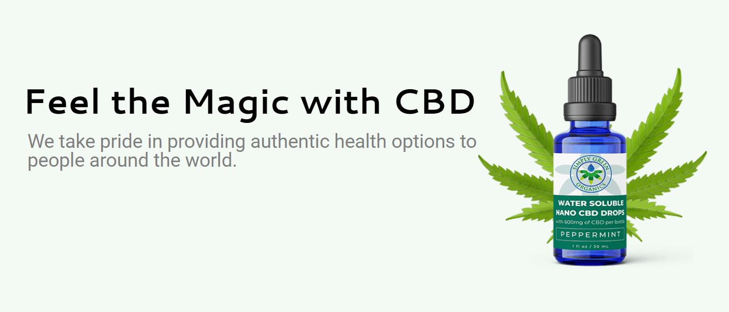 Simply Green Organics CBD Coupon Code Feel Magic
