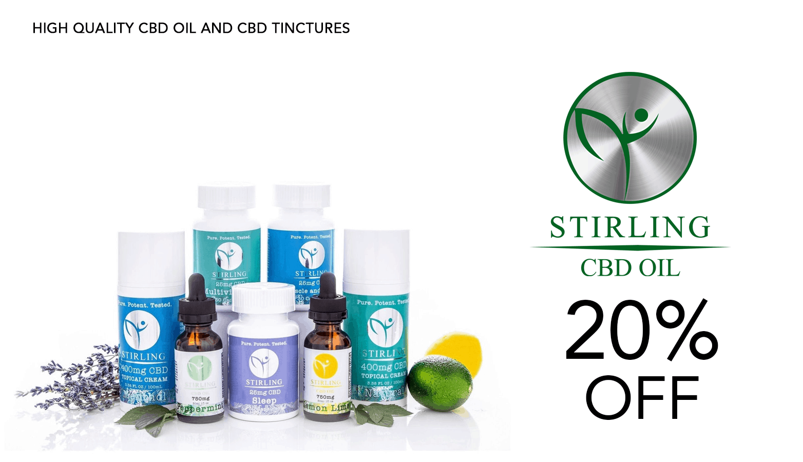 Stirling CBD Coupon Code Discount Promo