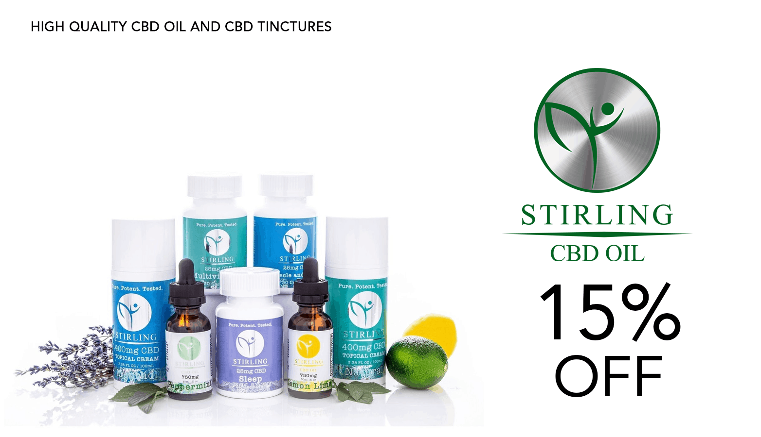 Stirling CBD Oil Coupon Code Discount Website