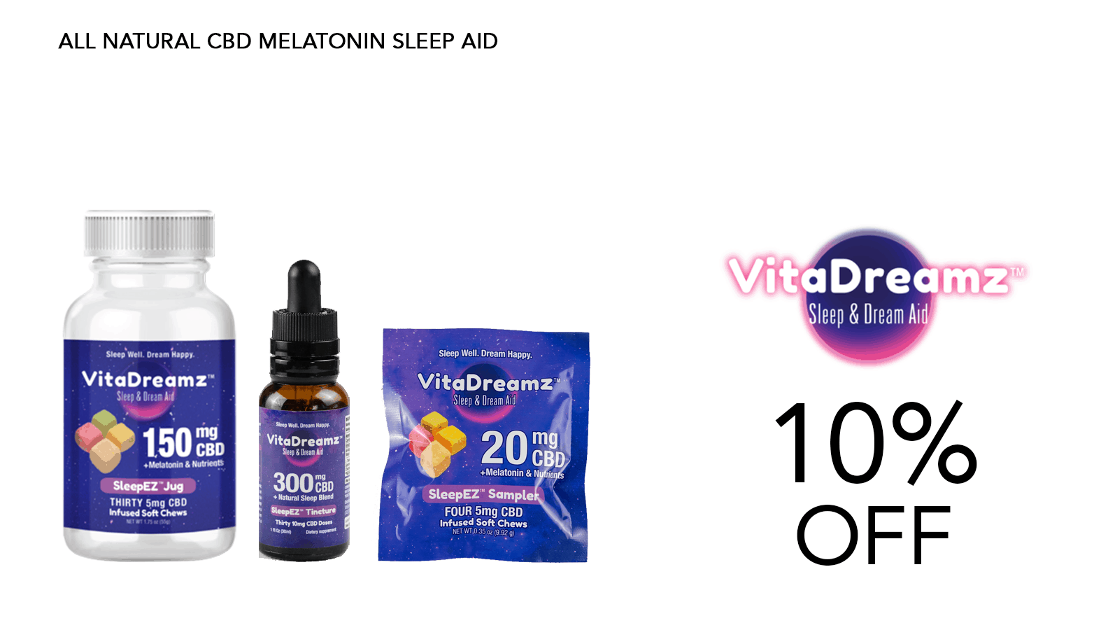 VitaDreamz CBD Coupon Code Discount Website
