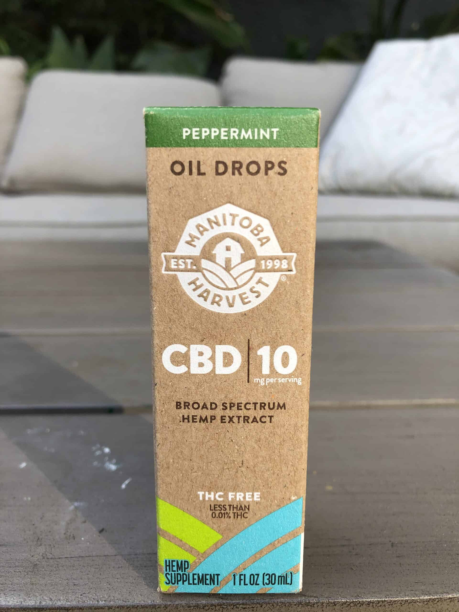 MANITOBA HARVEST: PEPPERMINT CBD OIL DROPS - 300 MG