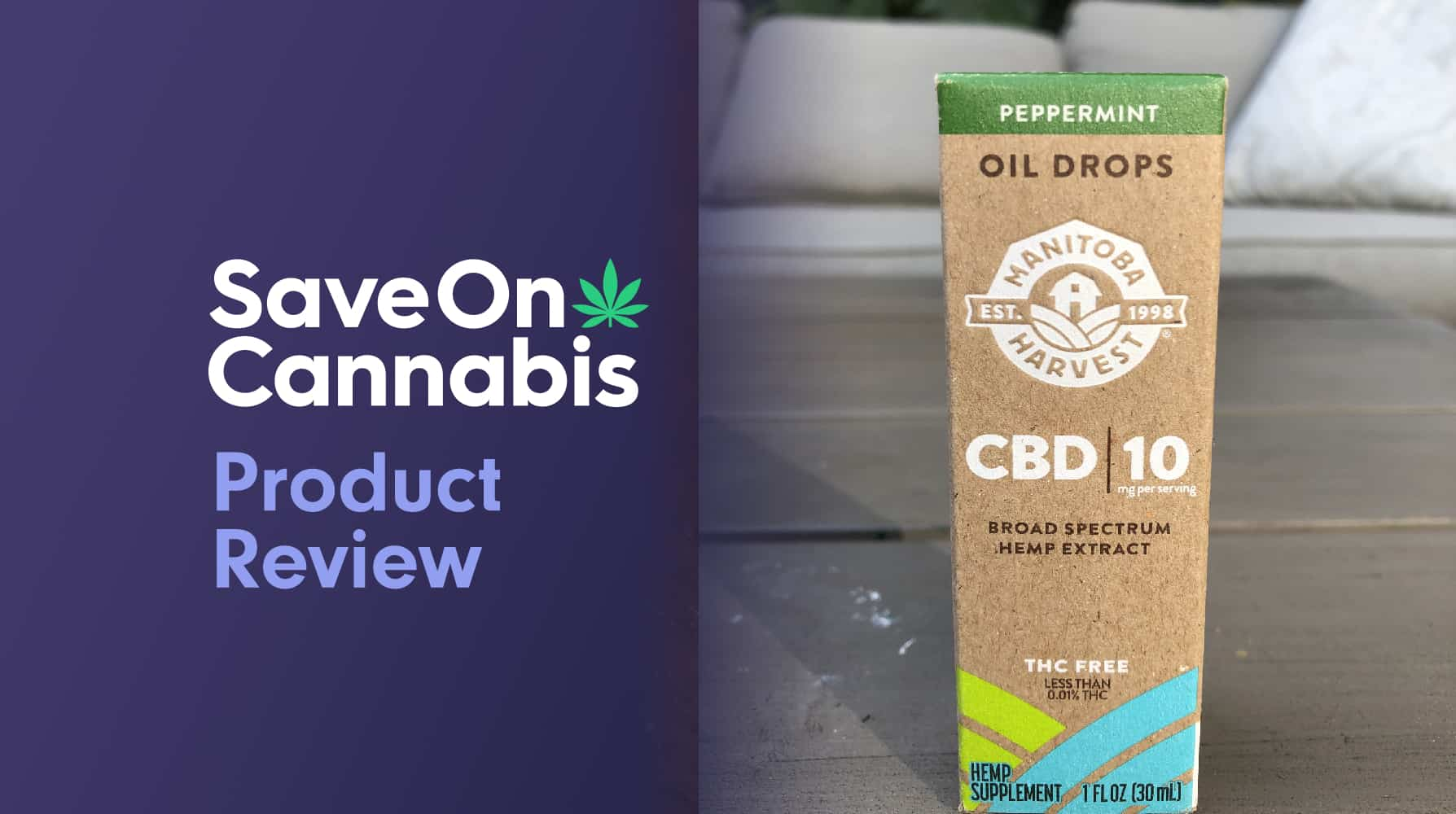 manitoba harvest peppermint cbd oil drops 300 mg save on cannabis website