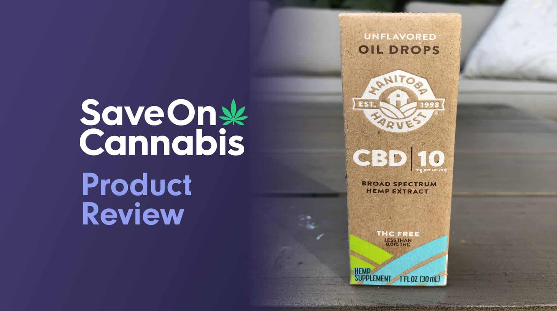 manitoba harvest unflavored cbd oil drops 300 mg save on cannabis website