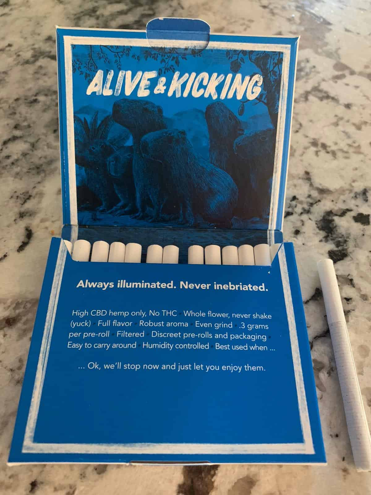 About Alive & Kicking CBD Hemp Pre Rolls save on cannabis Beauty Shot