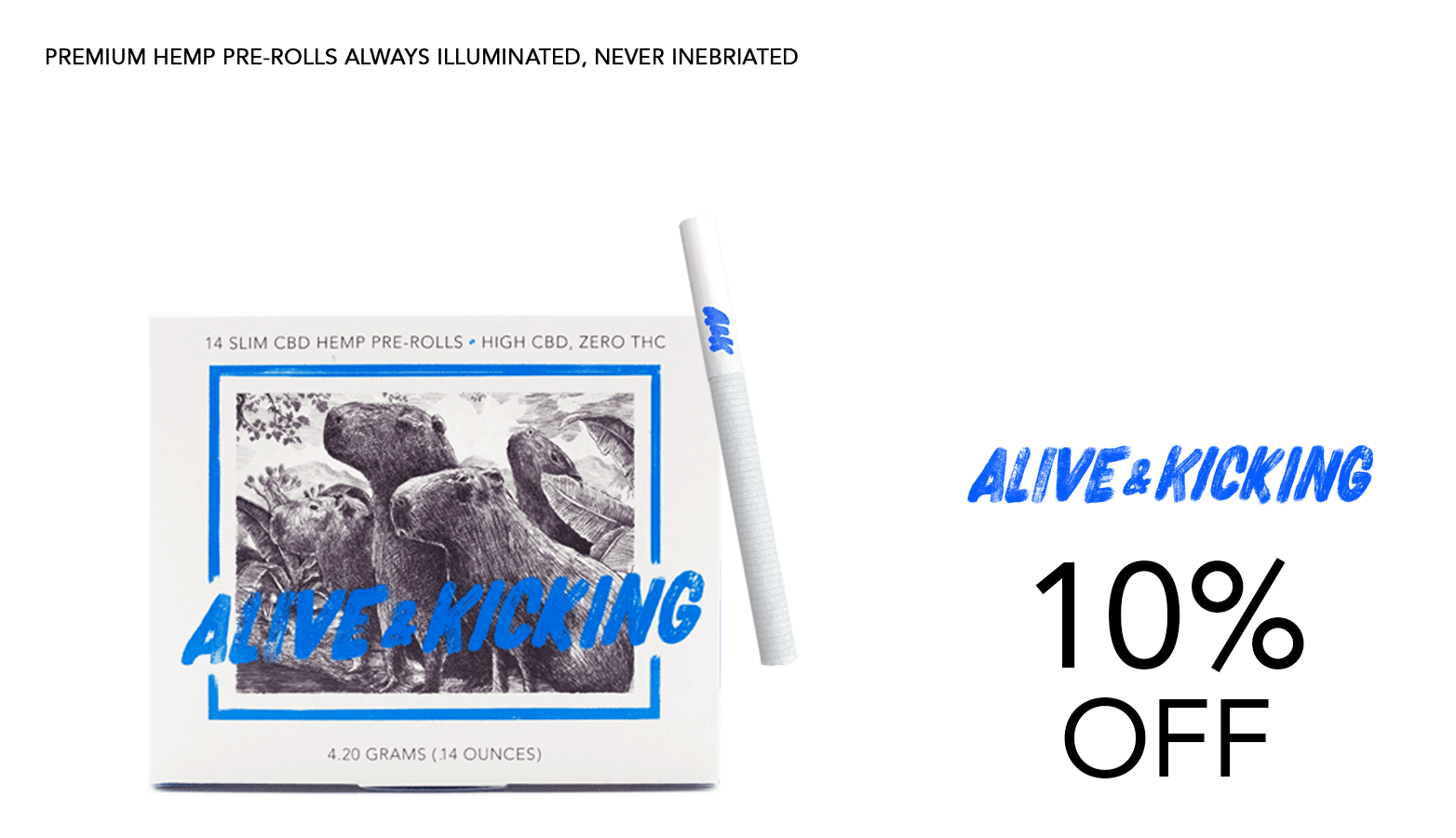 Alive & Kicking CBD Coupon Code Offer Website