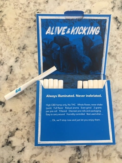 Alive & Kicking CBD Hemp Pre Rolls Review save on cannabis testing process