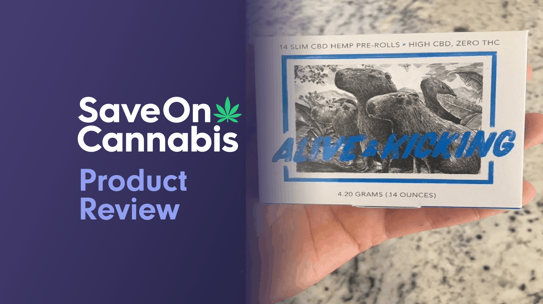Alive & Kicking CBD Hemp Pre Rolls Review save on cannabis website