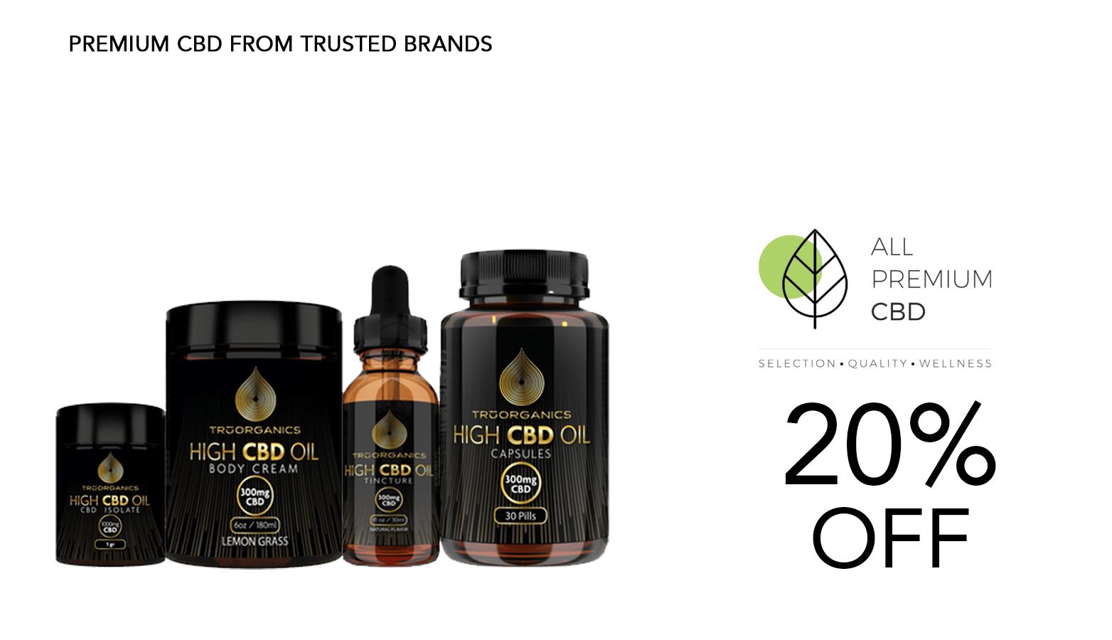 All Premium CBD Tru Organics Website