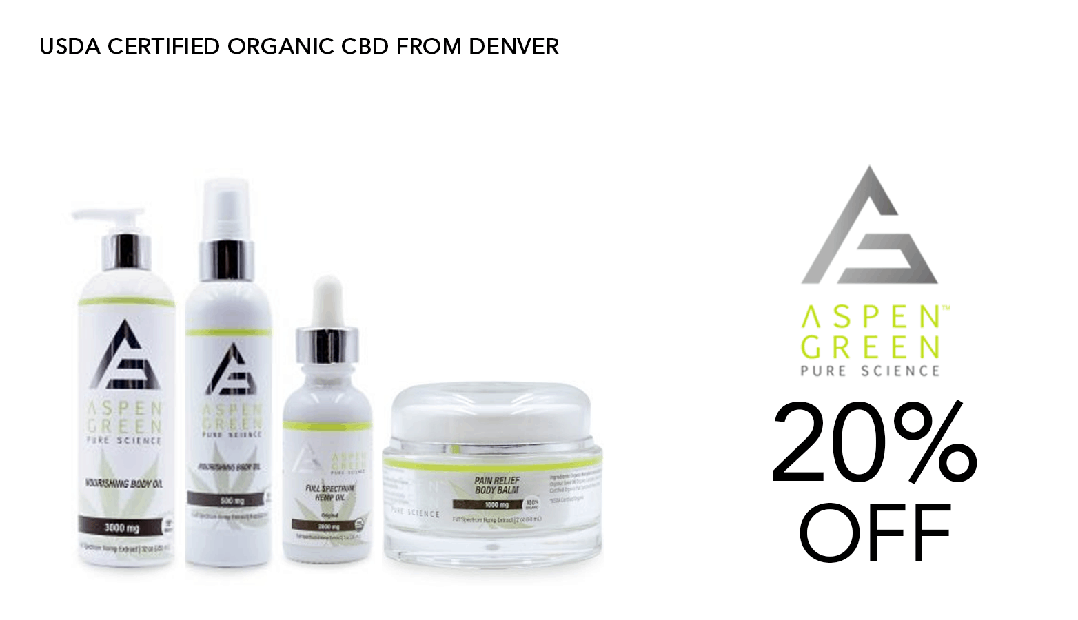 Aspen Green CBD Coupon Code 20 Percent Off
