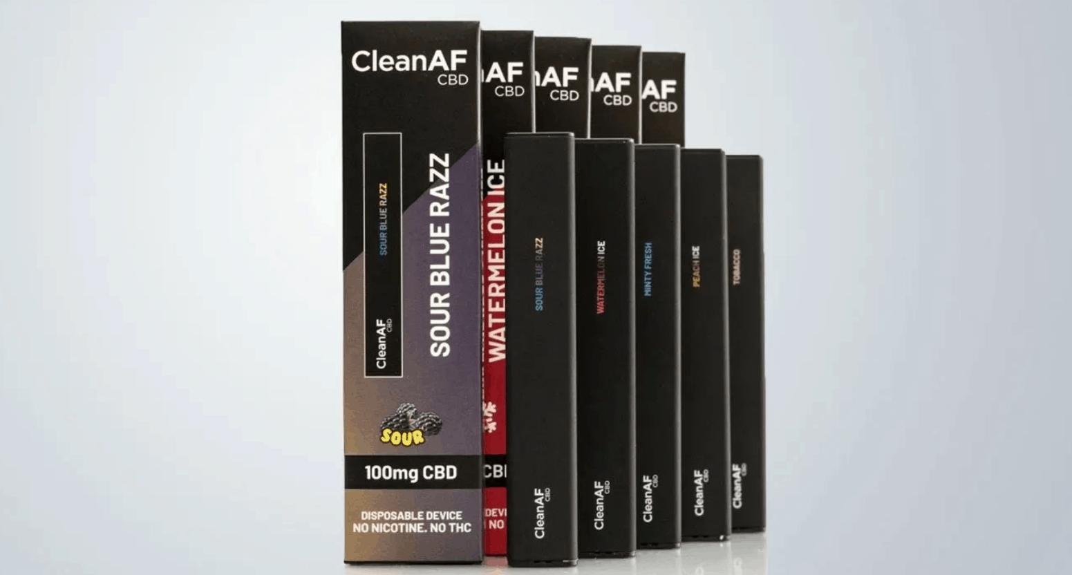 CleanAf CBD Vape Coupon Code Disposable Price