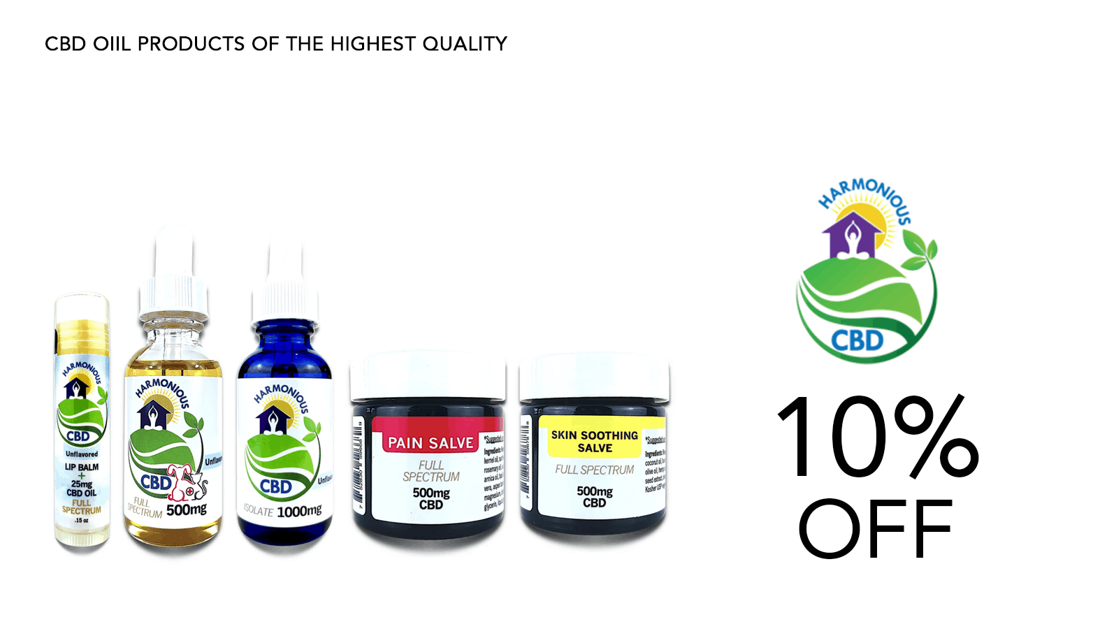 Harmonious CBD Coupon Code Offer Website