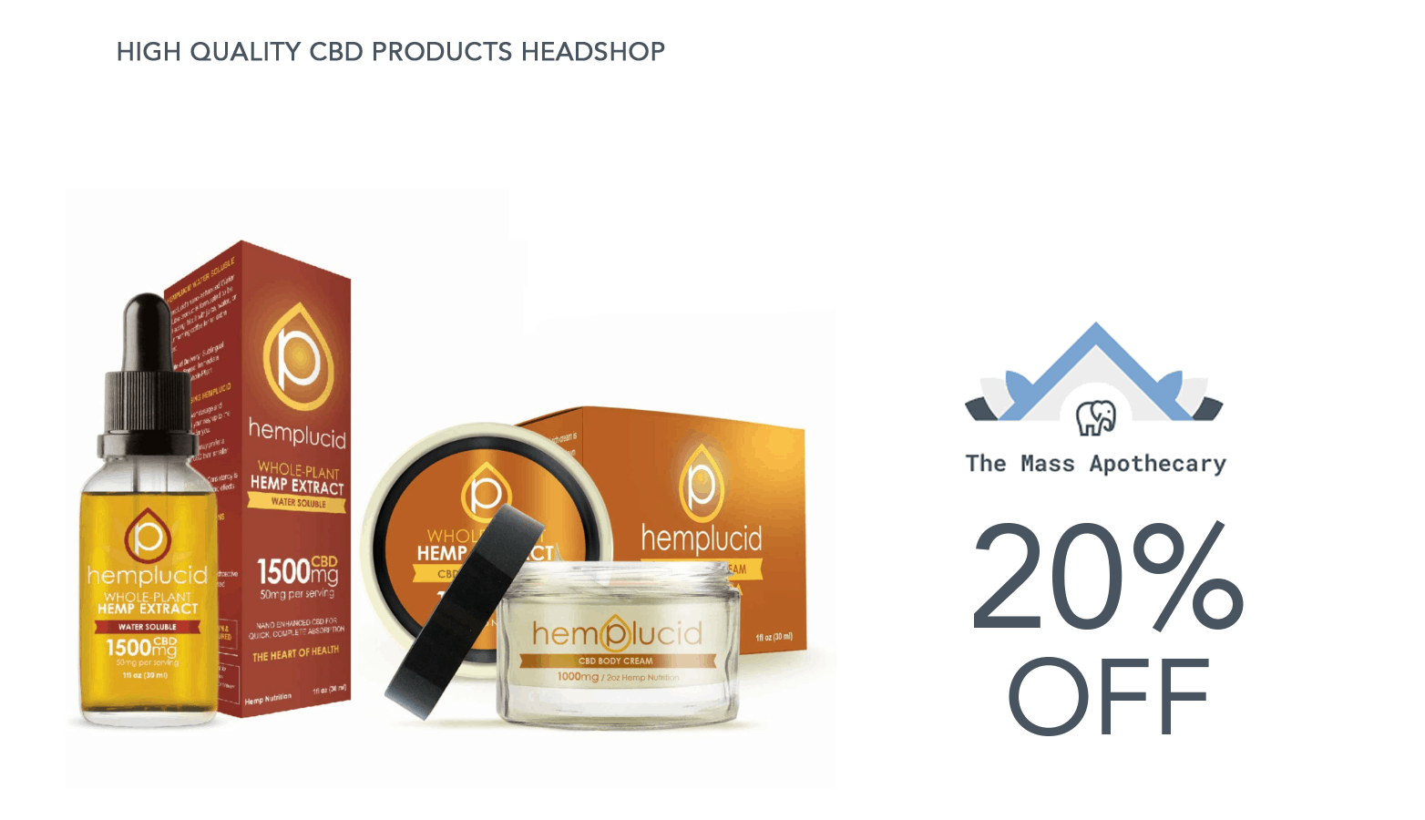 The Mass Apothecary Online CBD Coupons