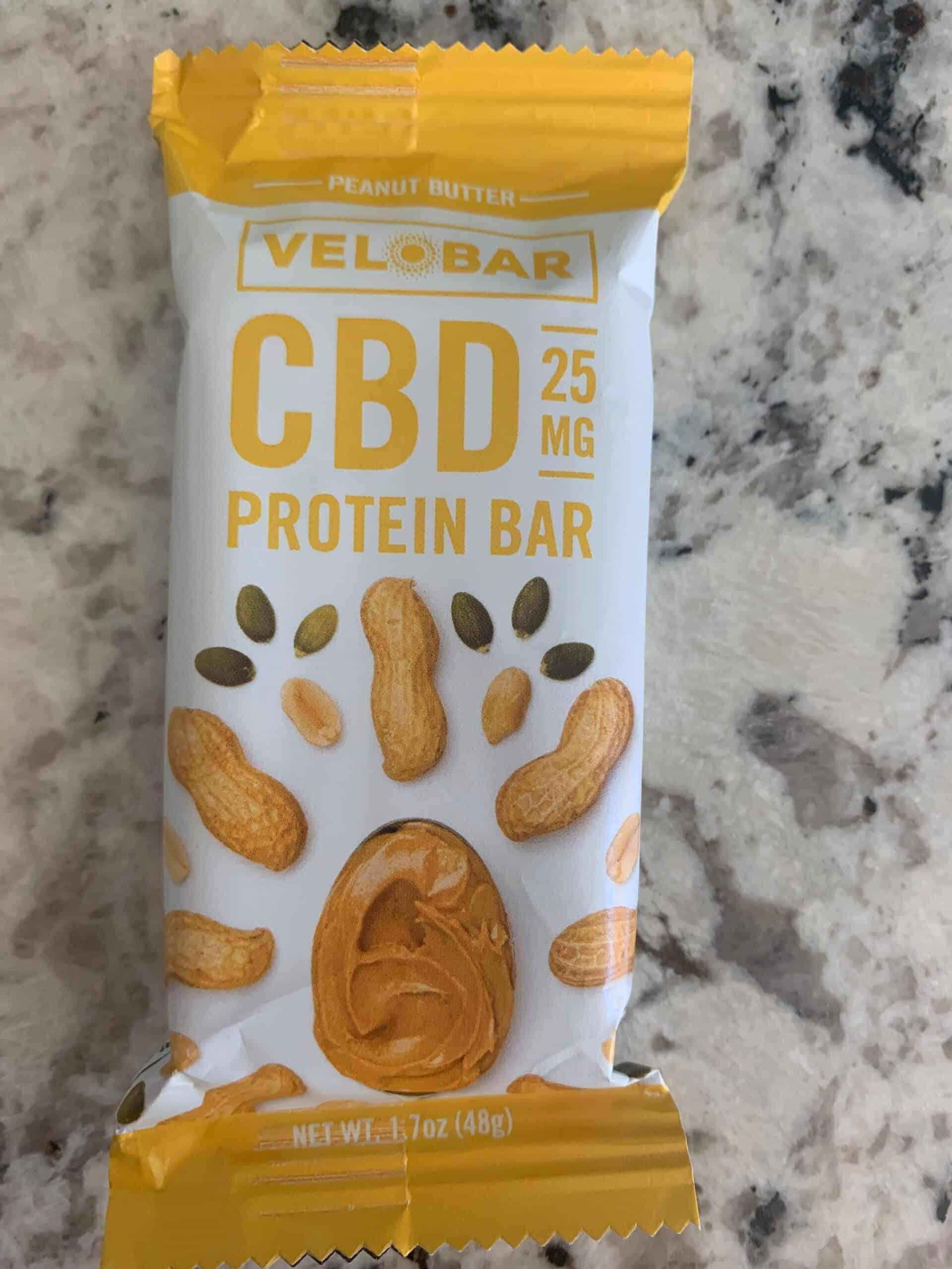 Velobar protein bar peanut butter save on cannabis review